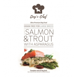 DOG'S CHEF Atlantic Salmon & Trout with Asparagus for LARGE BREED