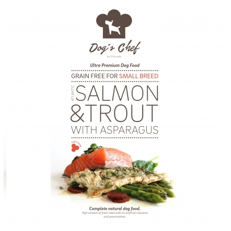 DOG'S CHEF Atlantic Salmon & Trout with Asparagus for SMALL BREED