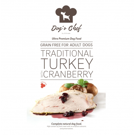 DOG'S CHEF Traditional Turkey with Cranberry