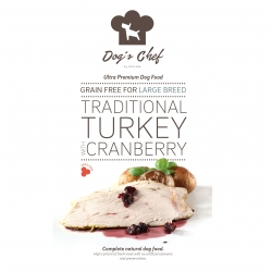 DOG'S CHEF Traditional Turkey with Cranberry for LARGE BREED